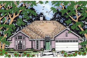 Dream House Plan - Traditional Exterior - Front Elevation Plan #42-340