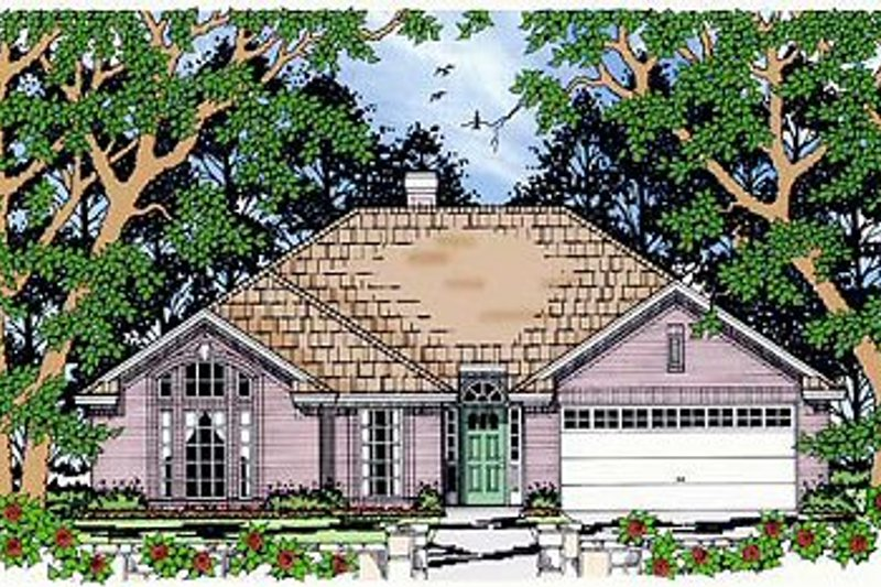 Traditional Exterior - Front Elevation Plan #42-340 - Houseplans.com