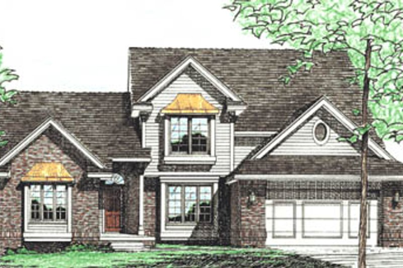Traditional Exterior - Front Elevation Plan #20-277 - Houseplans.com