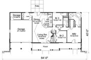 House Plan - 3 Beds 2 Baths 1510 Sq/Ft Plan #57-582 Floor Plan - Main Floor Plan
