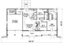 Floor Plan - Main Floor Plan Plan #57-582