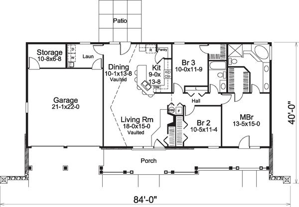 Home Plan - Floor Plan - Main Floor Plan #57-582