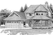 Victorian Style House Plan - 3 Beds 2.5 Baths 2043 Sq/Ft Plan #47-268 Exterior - Front Elevation