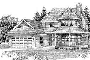 Victorian Exterior - Front Elevation Plan #47-268
