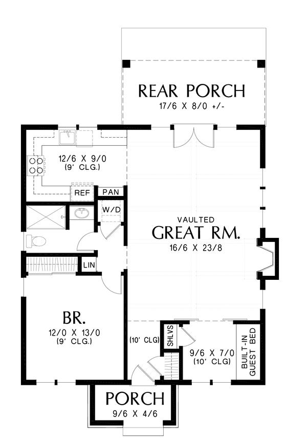 House Plan Design - European Floor Plan - Main Floor Plan #48-1012