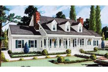 Dream House Plan - Country Exterior - Front Elevation Plan #3-329