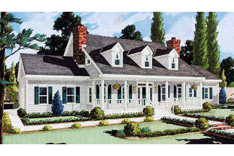 Country Exterior - Front Elevation Plan #3-329