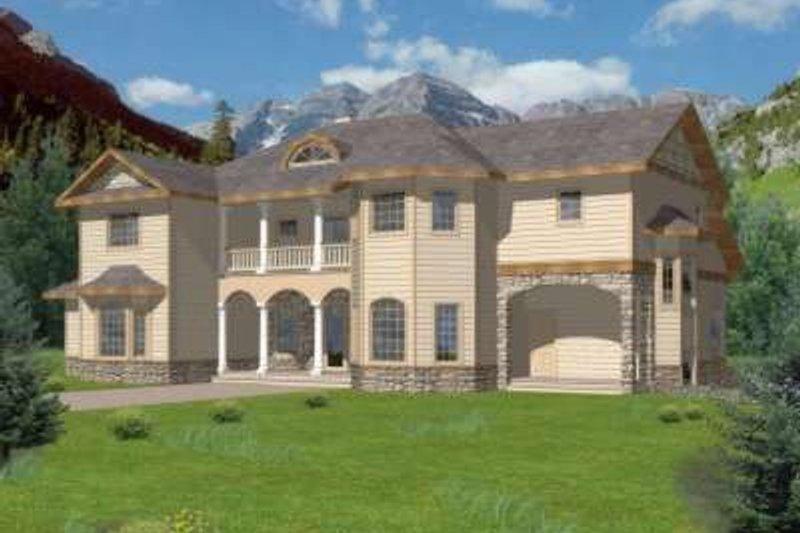 Home Plan - European Exterior - Front Elevation Plan #117-466