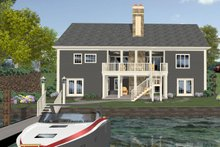 Dream House Plan - Craftsman Exterior - Rear Elevation Plan #56-726
