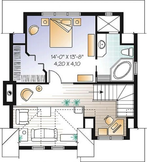 Country Floor Plan - Upper Floor Plan Plan #23-2419
