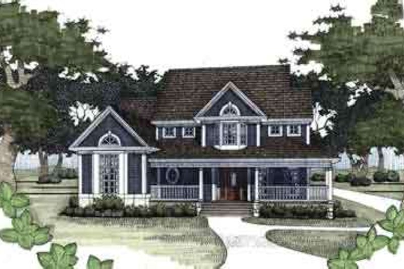 Country Style House Plan - 3 Beds 3 Baths 1899 Sq/Ft Plan #120-144 Exterior - Front Elevation