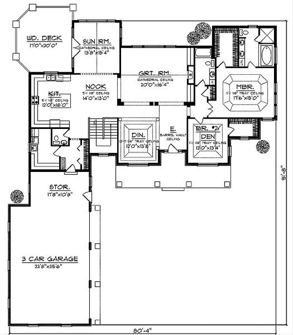Farmhouse Floor Plan - Main Floor Plan Plan #70-878