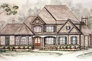 Traditional Style House Plan - 4 Beds 3.5 Baths 3565 Sq/Ft Plan #54-146 Exterior - Front Elevation