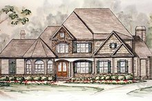 Dream House Plan - Traditional Exterior - Front Elevation Plan #54-146