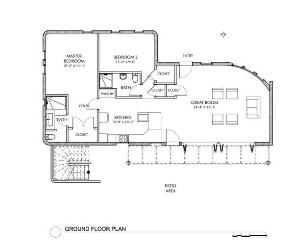 House Plan Design - Beach Floor Plan - Main Floor Plan #535-23