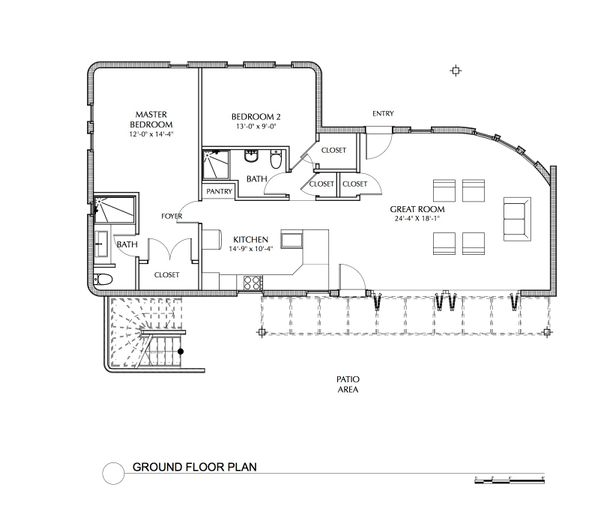 Beach Floor Plan - Main Floor Plan Plan #535-23