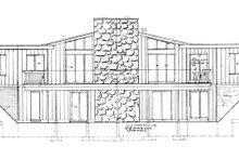 House Plan Design - Contemporary Exterior - Rear Elevation Plan #47-666