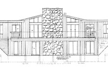 Architectural House Design - Contemporary Exterior - Rear Elevation Plan #47-666