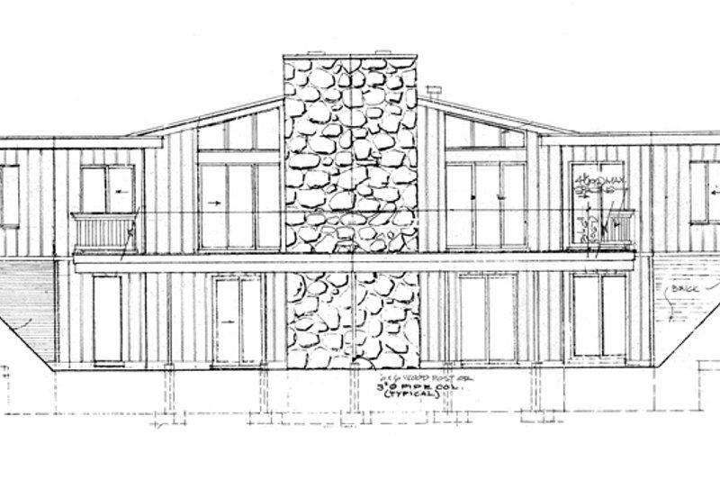 Contemporary Exterior - Rear Elevation Plan #47-666 - Houseplans.com