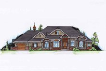 Craftsman Exterior - Front Elevation Plan #945-132