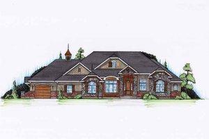 Craftsman Exterior - Front Elevation Plan #945-132
