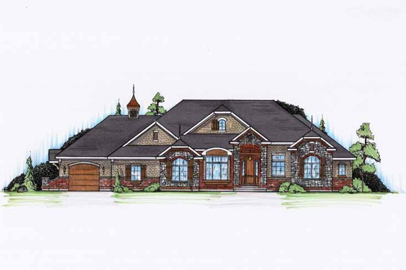 Architectural House Design - Craftsman Exterior - Front Elevation Plan #945-132