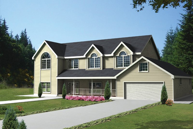 House Plan Design - Country Exterior - Front Elevation Plan #117-835