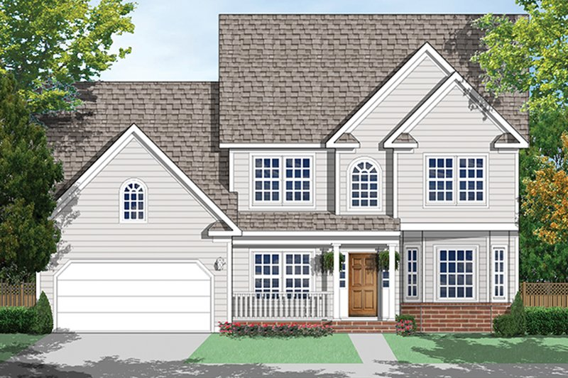 Architectural House Design - Country Exterior - Front Elevation Plan #1053-70