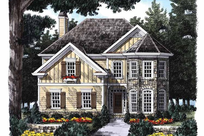 Country Exterior - Front Elevation Plan #927-846