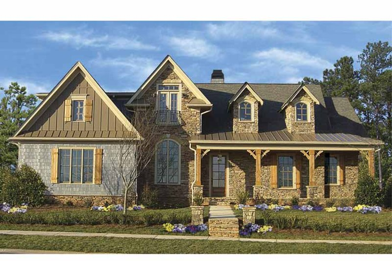 Traditional Exterior - Front Elevation Plan #54-292 - Houseplans.com