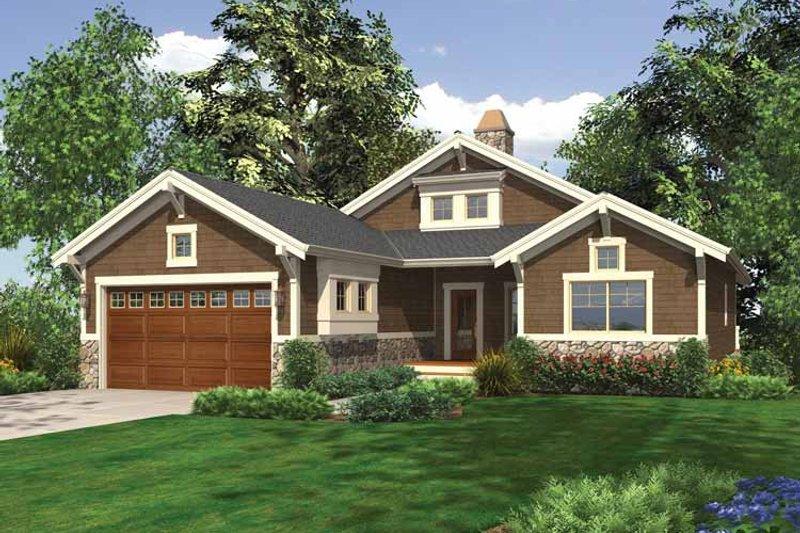 Craftsman Exterior - Front Elevation Plan #132-551 - Houseplans.com