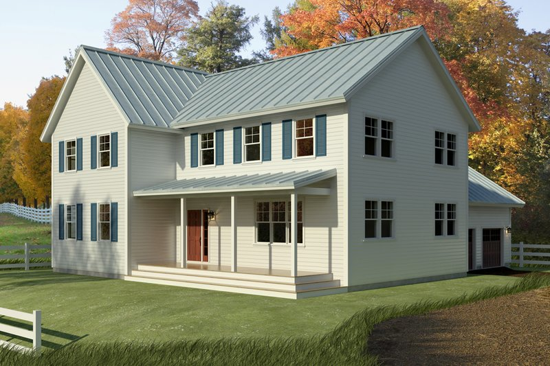 Farmhouse Exterior - Front Elevation Plan #497-15