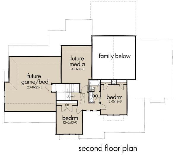 Craftsman Floor Plan - Upper Floor Plan Plan #120-183