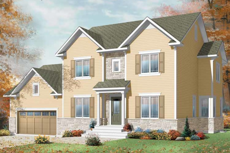 Traditional Exterior - Front Elevation Plan #23-2392 - Houseplans.com