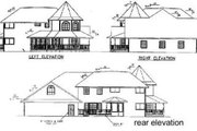 Victorian Style House Plan - 4 Beds 3 Baths 3419 Sq/Ft Plan #60-568 Exterior - Rear Elevation