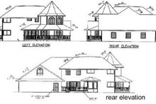 Victorian Exterior - Rear Elevation Plan #60-568