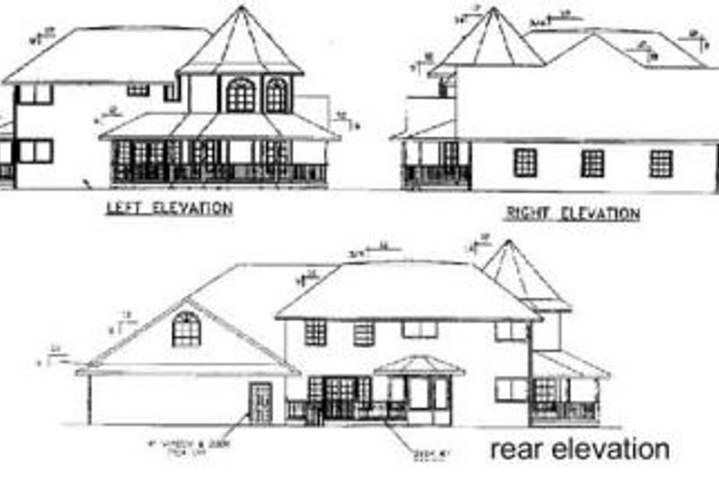 Victorian Exterior - Rear Elevation Plan #60-568 - Houseplans.com
