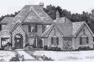 European Exterior - Front Elevation Plan #310-904