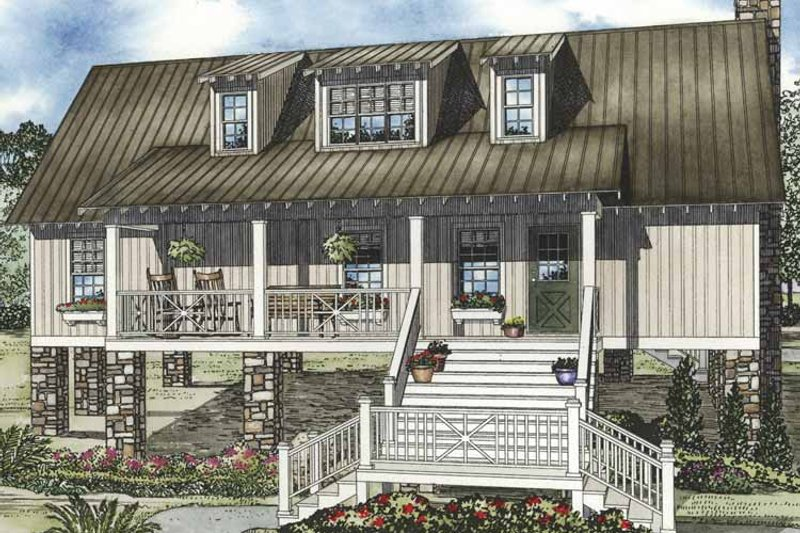 Country Exterior - Front Elevation Plan #17-3280 - Houseplans.com