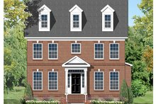 Architectural House Design - Colonial Exterior - Front Elevation Plan #1053-73