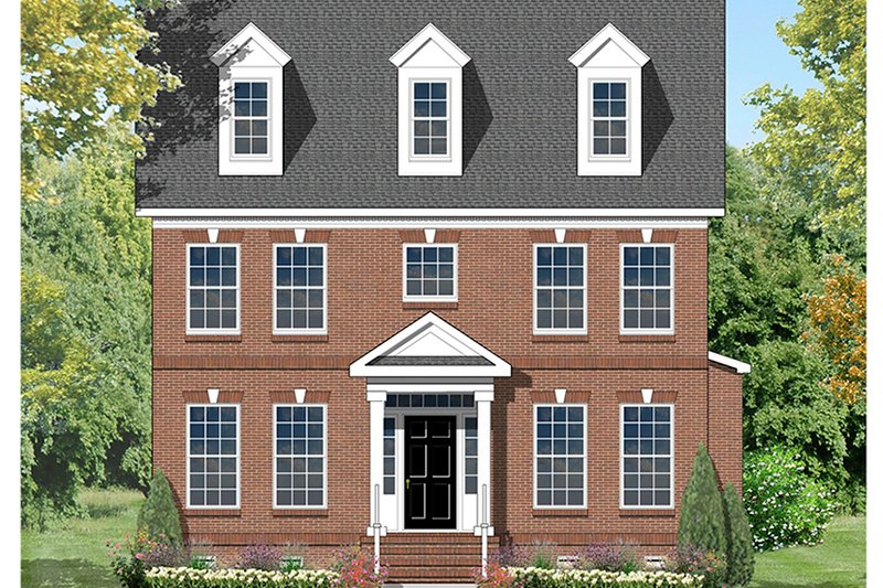Colonial Style House Plan 4 Beds 3 Baths 2673 Sq Ft Plan
