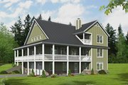 Farmhouse Style House Plan - 3 Beds 2 Baths 2200 Sq/Ft Plan #932-34 Exterior - Rear Elevation