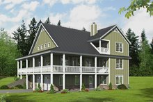Dream House Plan - Farmhouse Exterior - Rear Elevation Plan #932-34