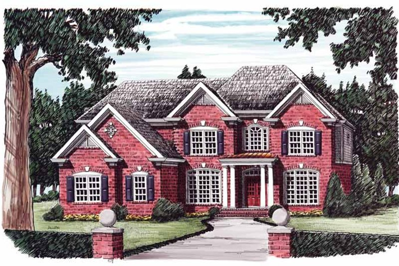 Colonial Exterior - Front Elevation Plan #927-564