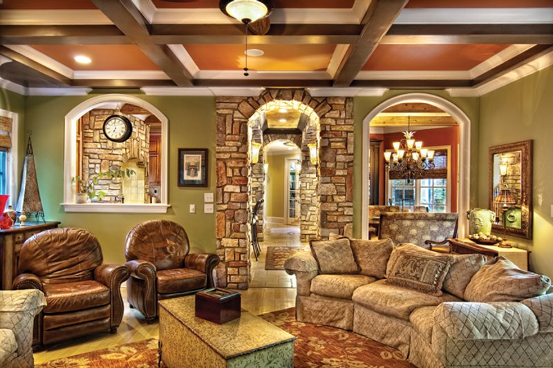 Mediterranean Interior - Family Room Plan #930-70 - Houseplans.com