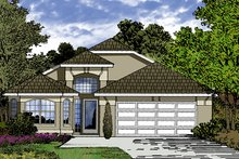 Mediterranean Exterior - Front Elevation Plan #417-846