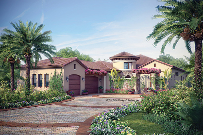 Mediterranean Exterior - Front Elevation Plan #930-444