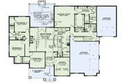 Craftsman Style House Plan - 4 Beds 2.5 Baths 2470 Sq/Ft Plan #17-3391 Floor Plan - Main Floor Plan