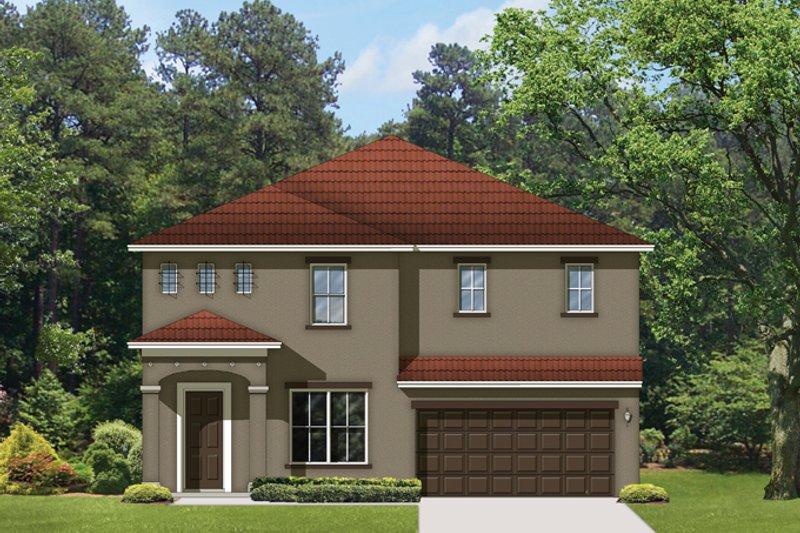 House Plan Design - Mediterranean Exterior - Front Elevation Plan #1058-65