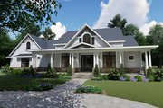 Farmhouse Style House Plan - 3 Beds 2.5 Baths 2787 Sq/Ft Plan #120-257 Exterior - Front Elevation